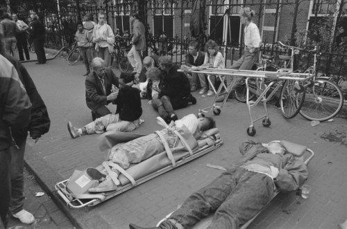 Huldiging Nederlands elftal na Europees kampioenschap 1988 te Munchen in Amsterd…