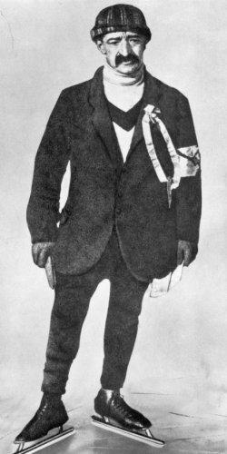 Coen de Koning (C.C.J. de Koning, 1879-1954), Nederlands schaatser uit Edam, in …