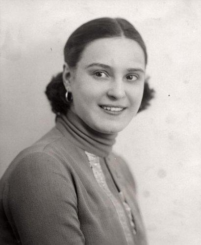 Miss Nederland/Holland. Miss Holland 1928 Johanna (Jopie) Koopman (1910 - 1979).