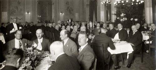 Olympische Spelen 1928 Amsterdam. Lunch / middagmaal (