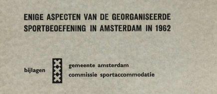 Mijn Cadeau Voor De Sportraad Amsterdam Sportgeschiedenis
